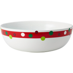 Rachael Ray Stoneware Hoot's Decorated Tree Round Serving Bowl, 10 Inch