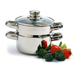 Norpro Stainless Steel 3 Piece Steam Cooker, 1 Quart