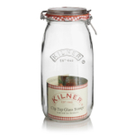 Kilner Glass Round Clip Top Jar, 102 Ounce