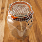 Kilner Glass Square Clip Top  Jar, 51 Ounce