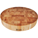 John Boos Maple Round Chinese Chopping Block, 18 x 3 Inch