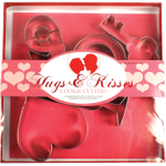 Fox Run Hugs and Kisses 5 Piece Steel Cookie Cutter Set
