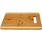 Anchor Hocking Two Tone Bamboo Cutting Board with Handle, 8.5 x 11.5 Inch