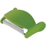 Swissmar Swiss Stainless Steel Curve Peeler with Green Plastic Finger Grips