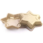 Silikomart Let's Celebrate Gold Silicone Star Cake Pan