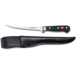 Wusthof Classic Fillet Knife with Black Leather Sheath, 7 Inch