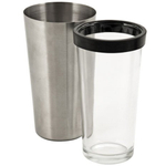 True Fabrications 2 Piece Stainless Steel Boston Shaker and Mixing Glass Set