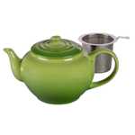 Le Creuset Palm Stoneware Teapot with Stainless Steel Infuser, 1 Quart