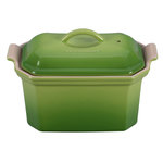 Le Creuset Heritage Palm Stoneware Pate Terrine with Press, .75 Quart
