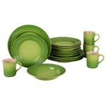 Le Creuset 16 Piece Palm Stoneware Dinnerware Set, Service for 4