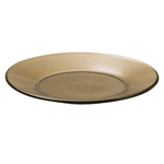 Anchor Hocking Presence Mocha Glass 10 Inch Plate, Set of 6