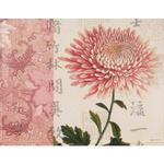 Melamine Chrysanthemum Medium Serving Tray with Handles