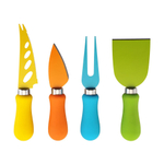 Farberware 4 Piece Multicolored Resin Coated Stainless Steel Cheese Knife Set
