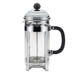 Bonjour Bijoux Brushed Stainless Steel and Glass French Press, 8 Cup