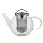 Bonjour Harmony Borosilicate Glass Infusing Teapot, 0.8 Liter