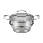 Circulon Stainless Steel Universal Steamer with Glass Lid, 4 Quart