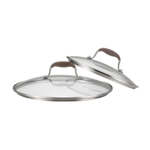 Anolon Advanced Bronze Glass Lid Twin Pack, 10 Inch and 12 Inch