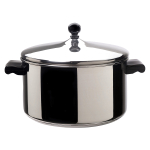 Farberware Classic Stainless Steel Covered Stockpot, 6 Quart