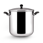 Farberware Classic Stainless Steel Covered Stockpot with Glass Lid, 11 Quart