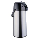 Zojirushi Silver Decaf Lever Airpot with Brew Thru Stem Stopper, 2.1 Liter