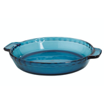 Anchor Hocking Coastal Blue Glass Single Pie Dish, 9.5 Inch