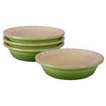 Le Creuset Heritage Palm Stoneware Petite Pie Dish, Set of 4