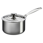 Le Creuset Tri-Ply Stainless Steel Saucepan with Lid, 2 Quart