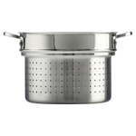 Le Creuset Tri-Ply Stainless Steel Deep Colander Insert, 10 Inch