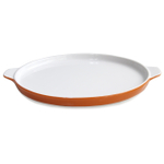 Mario Batali by Dansk Persimmon Stoneware Pizza Pan, 12 Inch