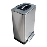 Trash Krusher Brushed Stainless Steel Waste Compacting Bin