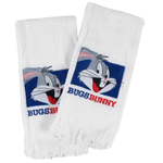 Looney Tunes Embroidered Bugs Bunny Fingertip Towel, Set of 2