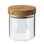 Berard Glass Jar with Olive Wood Lid, 13.5 Ounce