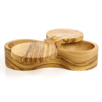 Berard Olive Wood Double Salt Keeper
