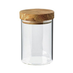 Berard Glass Jar with Olive Wood Lid, 2.5 Cup