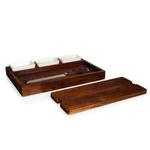 Fabio Viviani Heritage Collection Bruchetta Acacia Cutting Board with Bread Knife