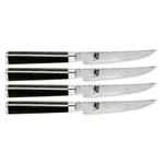 Shun Classic 4 Piece Damascus Stainless Steel Steak Knife Set