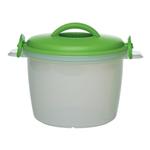 Progressive International Green Microwavable Rice Cooker Set, 6 Cup