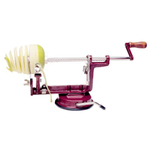 Back To Basics Red Peel Away Apple Peeler with Suction Base