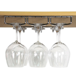 True Fabrications Polished Chrome Plated Under Cabinet Stemware Rack
