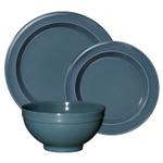 Emile Henry Blue Flame Ceramic 3 Piece Dinnerware Set