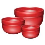 Emile Henry Brick Ceramic 3 Piece Mixing Bowl Set