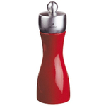 Peugeot Fidji Red Lacquer Beech Wood 6 Inch Pepper Mill