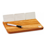Berard Acero Olive Wood Cheese Board with Ceramic Tiles