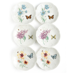 Lenox Butterfly Meadow Porcelain Party Plate, Set of 6
