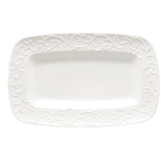 Lenox Opal Innocence Carved White Porcelain Hors D'oeuvres Tray