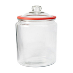Anchor Hocking Heritage Hill Glass 2 Gallon Storage Jar with Red Silicone Gasket