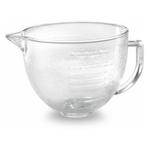 KitchenAid 5 Quart Covered Tilt-Head Hammered Glass Bowl with Pour Spout