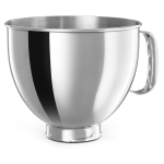 KitchenAid 5 Quart Polished Stainless Steel Bowl with Comfortable Handle