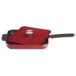 KitchenAid Empire Red Cast Iron Grill Pan and Panini Press