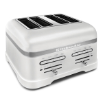 KitchenAid KMT4203FP Pro Line Series Frosted Pearl White 4-Slice Automatic Toaster